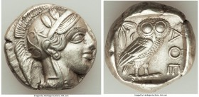 ATTICA. Athens. Ca. 440-404 BC. AR tetradrachm (24mm, 17.12 gm, 1h). XF. Mid-mass coinage issue. Head of Athena right, wearing crested Attic helmet or...