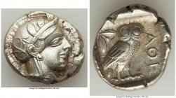 ATTICA. Athens. Ca. 440-404 BC. AR tetradrachm (26mm, 17.17 gm, 8h). Choice XF. Mid-mass coinage issue. Head of Athena right, wearing crested Attic he...