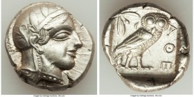 ATTICA. Athens. Ca. 440-404 BC. AR tetradrachm (25mm, 17.16 gm, 2h). Choice VF. Mid-mass coinage issue. Head of Athena right, wearing crested Attic he...