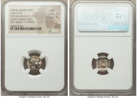 LYCIAN LEAGUE. Masicytes. Ca. 48-20 BC. AR hemidrachm (14mm, 1.79 gm, 12h). NGC MS 5/5 - 4/5. Series 1. Laureate head of Apollo right; Λ-Y below / M-A...