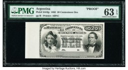 Argentina Provincia de Buenos Aires 20 Centesimos Oro 1.1.1883 Pick S533p Proof PMG Choice Uncirculated 63 EPQ.   HID09801242017  © 2020 Heritage Auct...