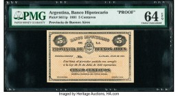 Argentina Banco Hipotecario 5 Centavos 14.7.1891 Pick S611p Proof PMG Choice Uncirculated 64 EPQ.   HID09801242017  © 2020 Heritage Auctions | All Rig...