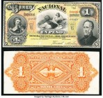 Argentina Banco Nacional 1 Peso 1.1.1883 Pick S676p Front and Back Proofs Choice About Uncirculated. The Front Proof is cancelled with 2 pinch holes, ...