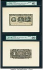Bolivia Tesoreria de la Republica 1 Boliviano ND (1902) Pick 92p Front and Back Proofs PMG Gem Uncirculated 66 EPQ (2). The Front Proof is cancelled w...