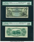 Bolivia Banco Agricola 1 Boliviano 22.11.1903 Pick S101sf; S101sb Front and Back Specimen PMG Choice About Unc 58 EPQ; Gem Uncirculated 65 EPQ.   HID0...