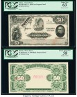 Bolivia Banco Potosi 50 Bolivianos 1.1.1894 Pick S235p Face and Back Progressive Proofs PCGS Choice About New 58; Choice New 63. Minor paper thin at c...