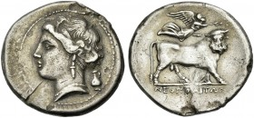 Neapolis. Didrachm.Ex Ratto 25/01/1926, Bonazzi, 234. From a Swiss collection of the 1920's.