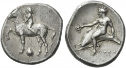 Tarentum. Nomos. F-B 473n (t.c.). Rare.Ex Triton I, 1997, 44. From the A.D.M. collection.