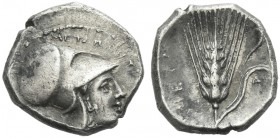 Metapontum. Diobol. Rare.