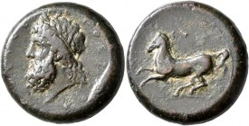 SICILY. Syracuse. Timoleon and the Third Democracy, 344-317 BC. Dilitron (Bronze, 27 mm, 21.33 g, 4 h), Timoleontic Symmachy coinage, circa 339/8-334....
