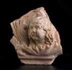 A Roman antefix with Eros