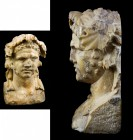 A Dionysian ancient yellow marble herm bust 
