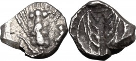 Greek Italy. Southern Lucania, Metapontum. AR Obol, 470-440 BC. D/ Ear of barley. R/ Incuse ear of barley. HN Italy 1489. AR. g. 0.40 mm. 8.00 Toned. ...