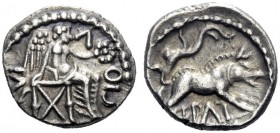 Celtic Coins   The Trinovantes and Catuvellani. Epaticcus circa 35 – 43 AD (Celtic Britain)  Unit circa 35-43, AR 1.33 g. Victory seated r., holding ...