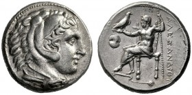 Greek Coins   Alexander III, 336 – 323 and posthumous issues  Tetradrachm, Pella circa 315-310, AR 17.00 g. Head of Heracles r., wearing lion's skin ...