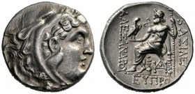 Greek Coins   Alexander III, 336 – 323 and posthumous issues  Tetradrachm, Odessus circa 315-310, AR 16.59 g. Head of Heracles r., wearing lion's ski...
