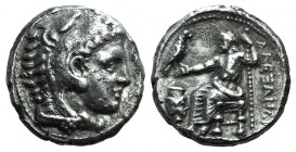 Kings of Macedon, Alexander III 'the Great' (336-323 BC). AR Tetradrachm (26mm, 17.00g, 9h). Amphipolis, c. 332-326 BC. Head of Herakles r., wearing l...