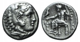 Kings of Macedon, Alexander III 'the Great' (336-323 BC). AR Drachm (15mm, 4.20g, 6h). Sardes, c. 330/25-324/3 BC. Head of Herakles r., wearing lion s...