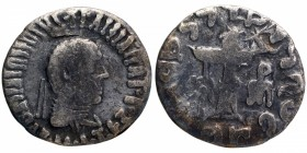 Silver Drachma Coin of Apollodotus II of Indo Greeks.