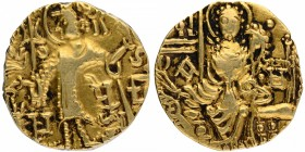 Gold Dinar Coin of Gadahara Kidara of Kushan Dynasty Later period.