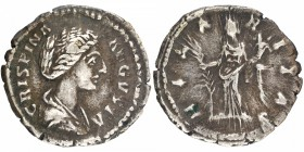 Silver Denarius Coin of Crispina of Roman Empire.