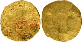 Punch Marked Gold Pagoda Coin of Bijjala of Kalachuries of Kalyana.