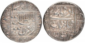 Silver Rupee Coin of Shahjahan of Surat Mint.