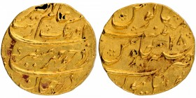 Gold Mohur Coin of Aurangzeb Alamgir of  Burhanpur Mint.