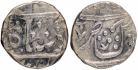Silver One Rupee Coin of Chandor Mint of Maratha Confederacy.