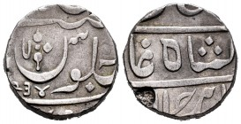 India. Bombay Presidency. 1 rupia. 1234 H (1819). (Km-no cita). Ag. 11,06 g. Very rare. Choice VF. Est...180,00.