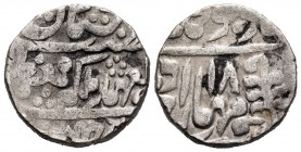 India. Jaipur. Madho Singh. 1 rupia. 1897 (año 12). Jhar. (Km-145). Ag. 11,40 g. Almost VF. Est...25,00.