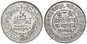 India. Kutch. Khengarji III. 5 kori. 1898 (VS 1953-1955). (Km-Y37.5). Ag. 13,86 g. Almost XF. Est...20,00.