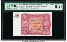 Afghanistan Ministry of Finance 5 Afghanis ND (1936) / ND (SH1315) Pick 16Bs Specimen PMG Gem Uncirculated 65 EPQ.   HID09801242017  © 2020 Heritage A...