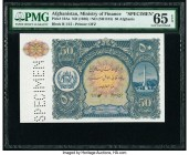 Afghanistan Ministry of Finance 50 Afghanis ND (1936) / ND (SH1315) Pick 19As Specimen PMG Gem Uncirculated 65 EPQ.   HID09801242017  © 2020 Heritage ...
