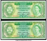 Belize Government of Belize 1 Dollar 1.6.1975; 1.1.1976 Pick 33b; 33c Two Examples Crisp Uncirculated.   HID09801242017  © 2020 Heritage Auctions | Al...