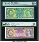 Belize Government of Belize 2 Dollars 1.1.1976 Pick 34c PMG Choice About Unc 58 EPQ; British Honduras Government of Honduras 1 Dollar 1.1.1973 Pick 28...