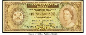 Belize Government of Belize 20 Dollars 1.1.1976 Pick 37c Fine.   HID09801242017  © 2020 Heritage Auctions | All Rights Reserved