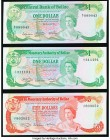 Belize Monetary Authority Group Lot of 3 Examples Crisp Uncirculated.   HID09801242017  © 2020 Heritage Auctions | All Rights Reserved