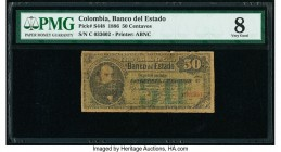 Colombia Banco del Estado 50 Centavos 1886 Pick S448 PMG Very Good 8.   HID09801242017  © 2020 Heritage Auctions | All Rights Reserved