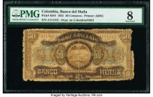 Colombia Banco del Huila 50 Centavos 1921 Pick S541 PMG Very Good 8.   HID09801242017  © 2020 Heritage Auctions | All Rights Reserved