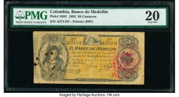 Colombia Banco de Medellin 50 Centavos 1895 Pick S591 PMG Very Fine 20. As made ink stamp; rust damage.  HID09801242017  © 2020 Heritage Auctions | Al...