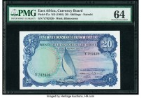 East Africa East African Currency Board 20 Shillings ND (1964) Pick 47a PMG Choice Uncirculated 64.   HID09801242017  © 2020 Heritage Auctions | All R...