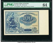 Estonia Bank of Estonia 100 Krooni 1935 Pick 66a PMG Choice Uncirculated 64.   HID09801242017  © 2020 Heritage Auctions | All Rights Reserved