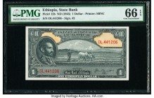 Ethiopia State Bank of Ethiopia 1 Dollar ND (1945) Pick 12b PMG Gem Uncirculated 66 EPQ.   HID09801242017  © 2020 Heritage Auctions | All Rights Reser...