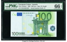 European Union Central Bank, Austria 100 Euro 2002 Pick 12n PMG Gem Uncirculated 66 EPQ.   HID09801242017  © 2020 Heritage Auctions | All Rights Reser...