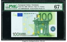 European Union Central Bank, Germany 100 Euro 2002 Pick 12x PMG Superb Gem Unc 67 EPQ.   HID09801242017  © 2020 Heritage Auctions | All Rights Reserve...