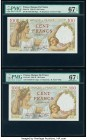France Banque de France 100 Francs 9.1.1941 Pick 94 Two Examples PMG Superb Gem Unc 67 EPQ.   HID09801242017  © 2020 Heritage Auctions | All Rights Re...