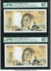 France Banque de France 500 Francs 2.2.1989 Pick 156g Two Examples PMG Superb Gem Unc 67 EPQ.   HID09801242017  © 2020 Heritage Auctions | All Rights ...