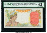 French Indochina Banque de l'Indo-Chine 100 Piastres ND (1949-54) Pick 82b PMG Choice Uncirculated 63 EPQ.   HID09801242017  © 2020 Heritage Auctions ...