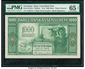 Germany State Loan Bank East 1000 Mark 4.4.1918 Pick R134a PMG Gem Uncirculated 65 EPQ.   HID09801242017  © 2020 Heritage Auctions | All Rights Reserv...